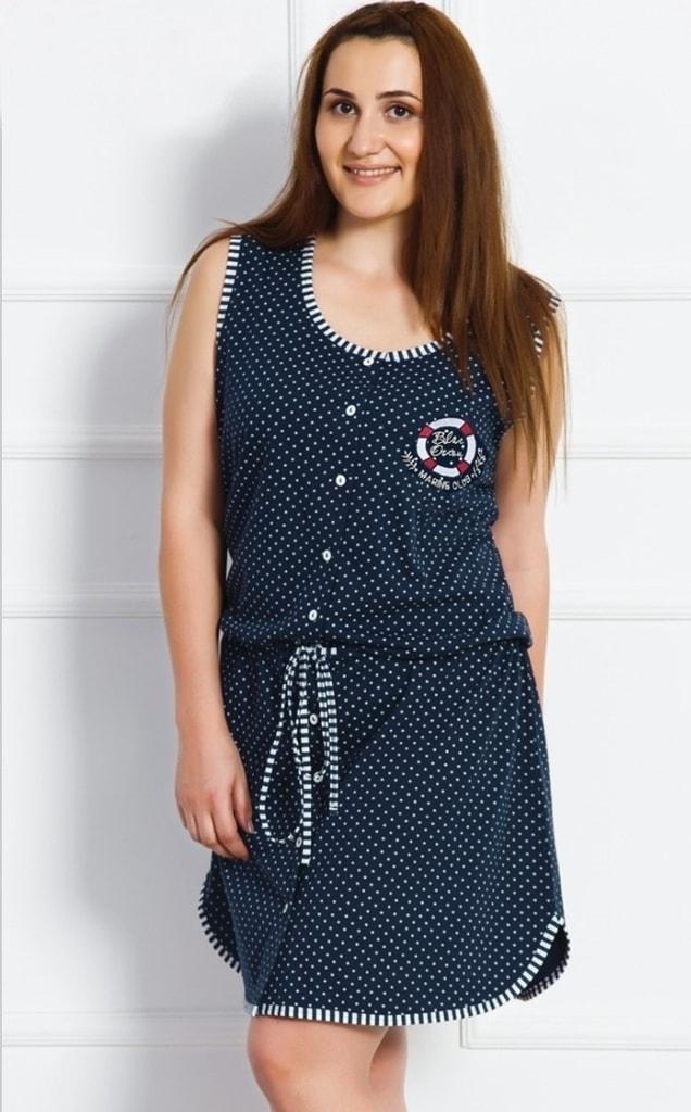 c242335db7b Dámské domácí šaty na ramínka Marine - tmavě modrá