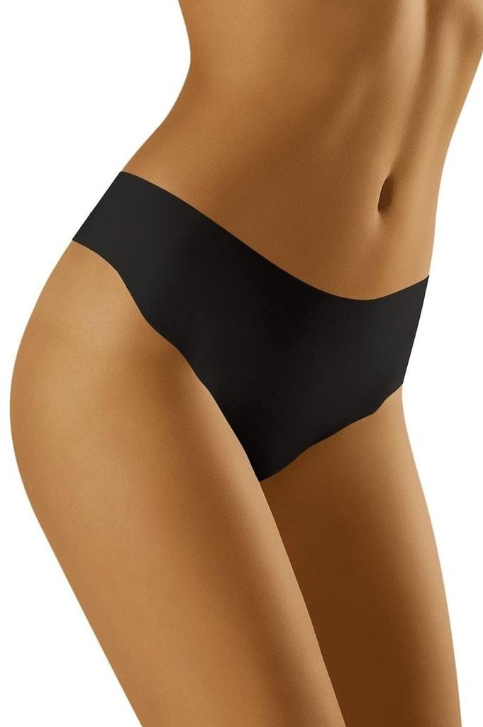 Bezešvé kalhotky tanga WOLBAR Elcanta černé  426620d781