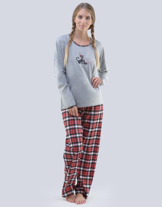 fcbed43f756 GINA dámské pyžamo dlouhé dámské