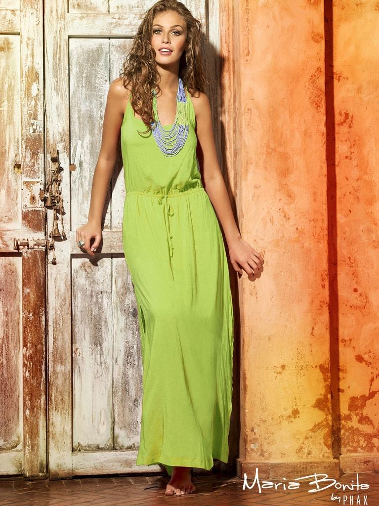 Dlouhé letní šaty na ramínka PHAX zelené  990602d972