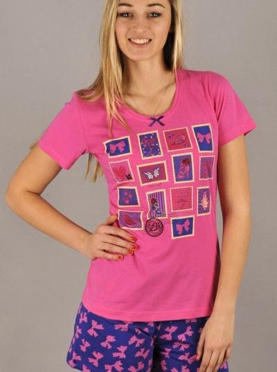 07cb121a74e Dámské pyžamo VIENETTA SECRET Známky růžové