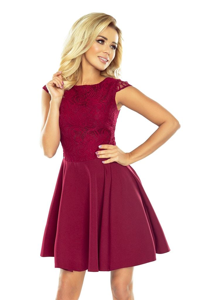 Dámské šaty NUMOCO 157-3 vínové  e55a16bdd77