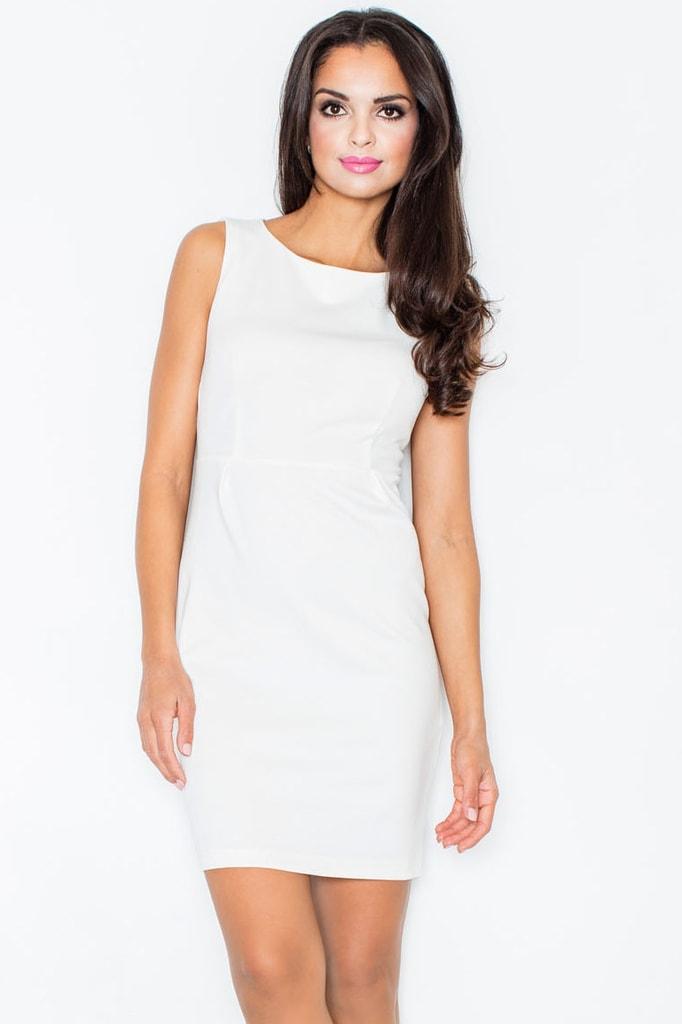 Elegantní dámské šaty FIGL M079 krémové  2ed5e6abaf2