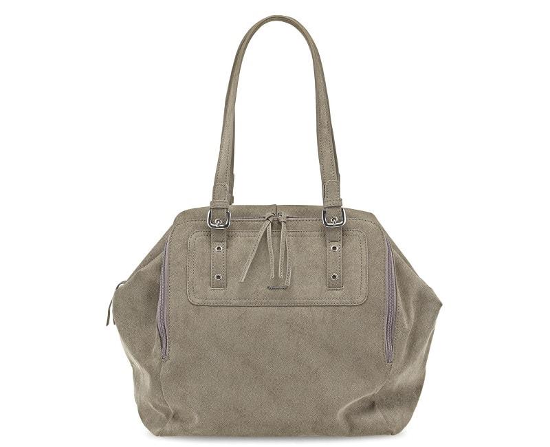 7554e201a2 Elegantní business kabelka TAMARIS Jessica Shopping Bag Fango 1995152-450