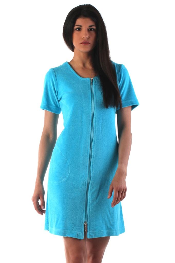 Plážové wellness šaty VESTIS Bari 51646330 s krátkým rukávem tyrkysové 8bf9a4dd37f