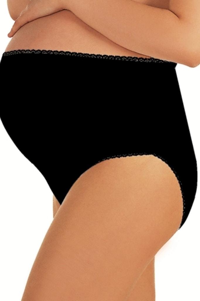 b04c2fb977f Těhotenské kalhotky Mama maxi černé
