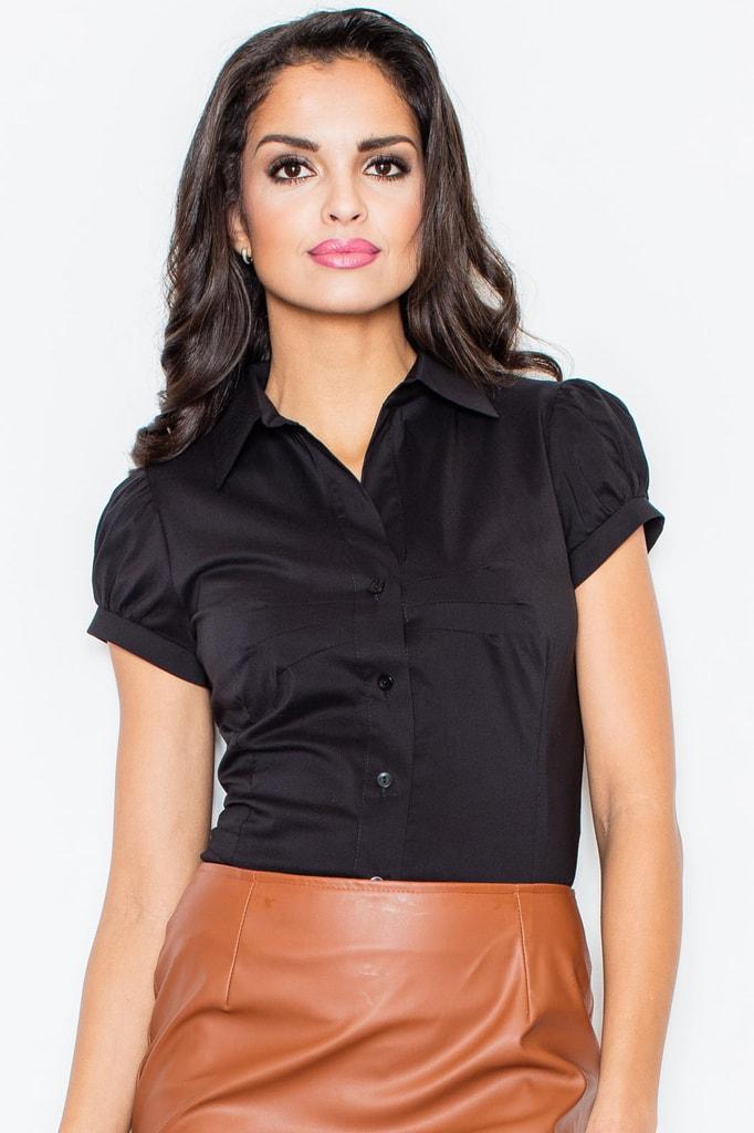 af3b5c72089 Dámská košile FIGL M026 černá