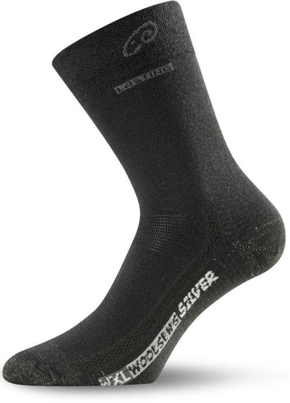 Ponožky s merino vlnou LASTING WXL černé  d7457d8d33
