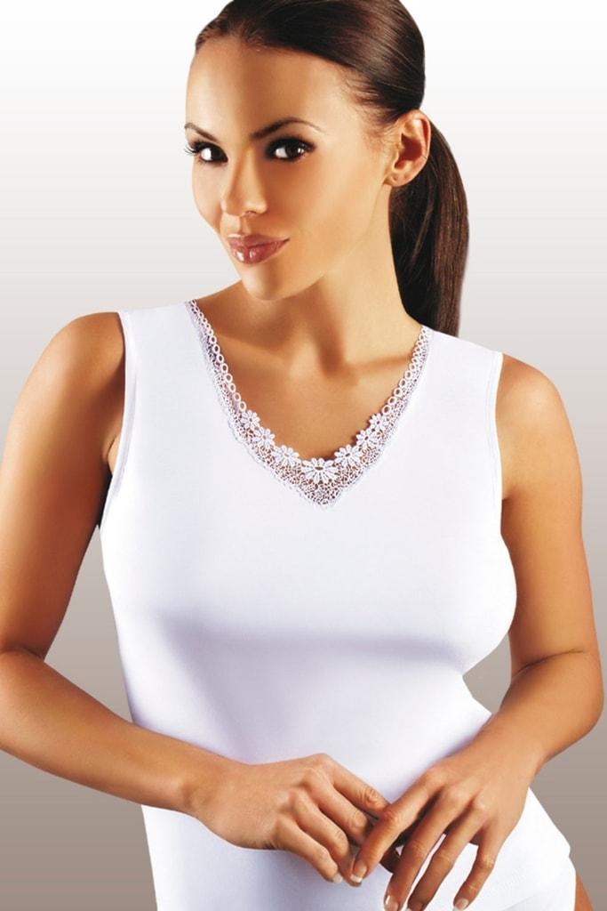 Dámská košilka EMILI Majka plus bílá  9395abf019