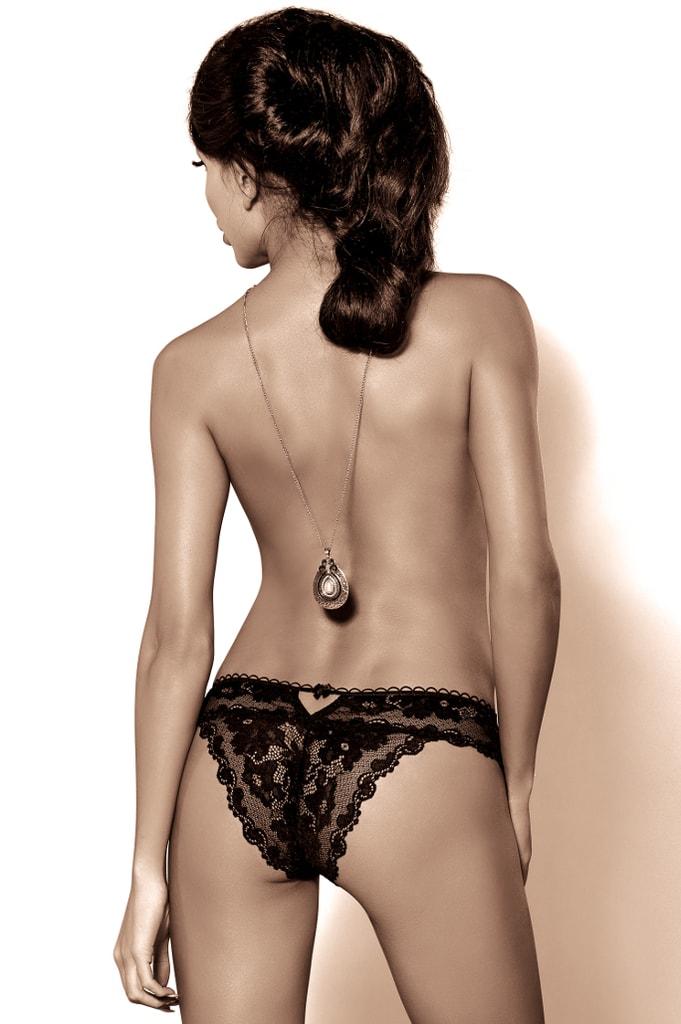 Dámské krajkové kalhotky ROZA Madam černé  19c8c35829
