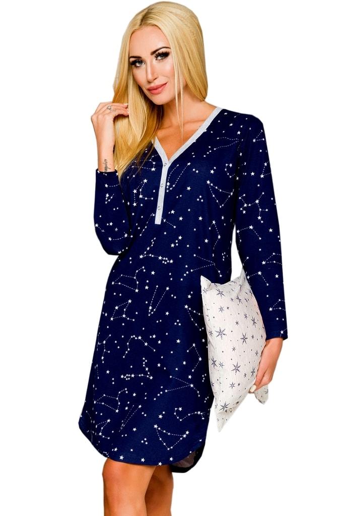 5ed6ff3fa50 Noční košile TARO Tamara 882 modrá