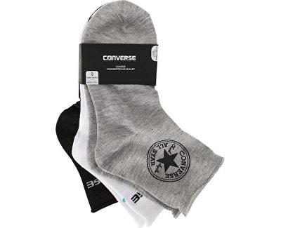 Balení 3ks ponožek SKARPETY Converse Women 3-pak Mid grey mel White Black e9e0827902