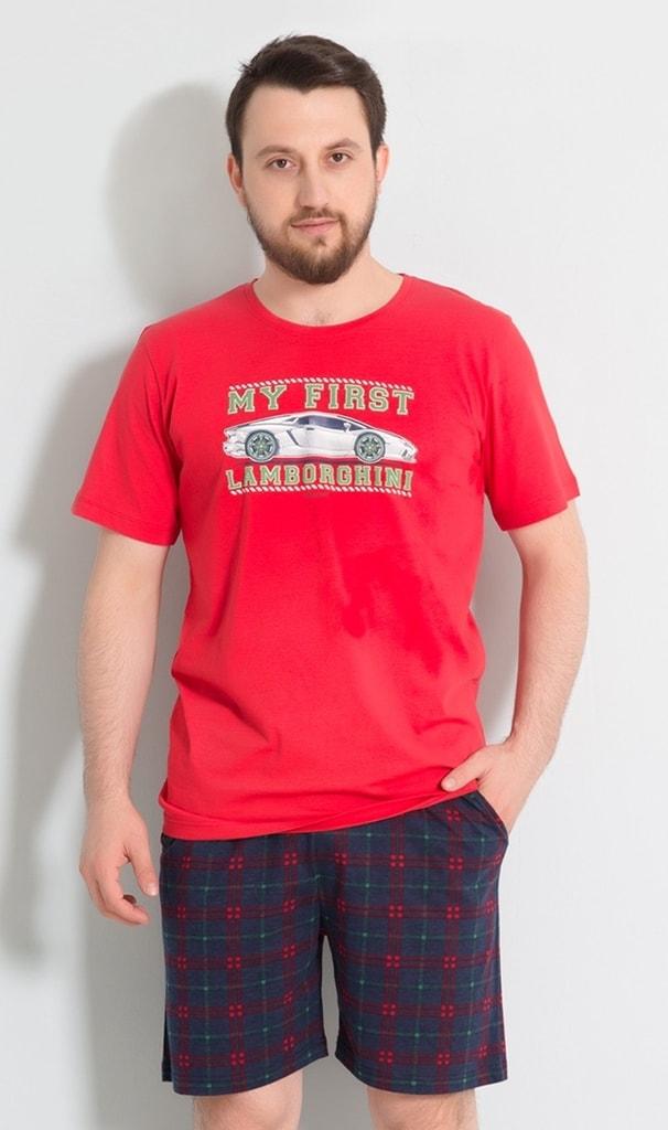 d91dd345b3e7 Pánské pyžamo šortky Sporťák - červená
