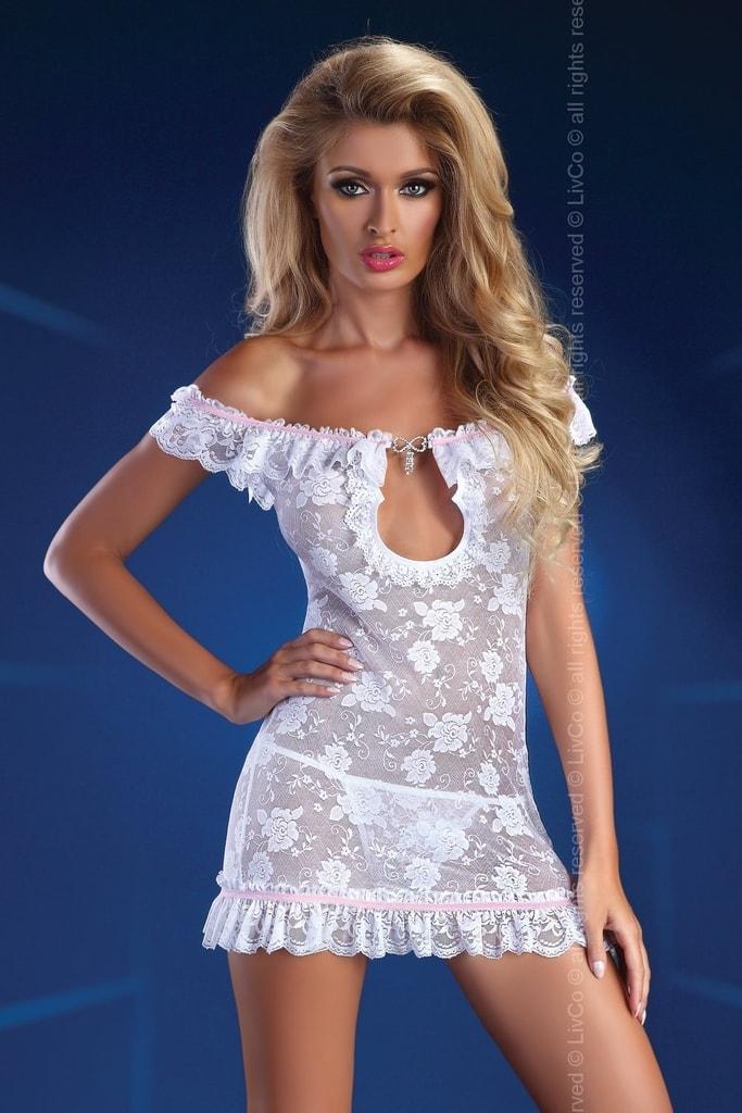 9aa2da7b6 Erotické šaty LIVCO CORSETTI Mija bílé | LivCo CORSETTI FASHION ...