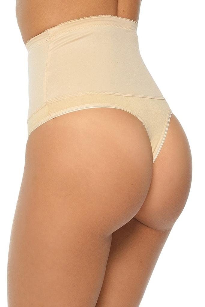 7115524b9 Dámská stahovací tanga Iga plus beige | MITEX | Stahovací prádlo ...