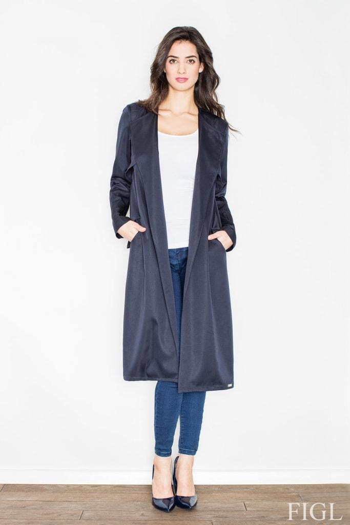 Dámský kabát FIGL M427 tmavě modrý  06111d3ba35