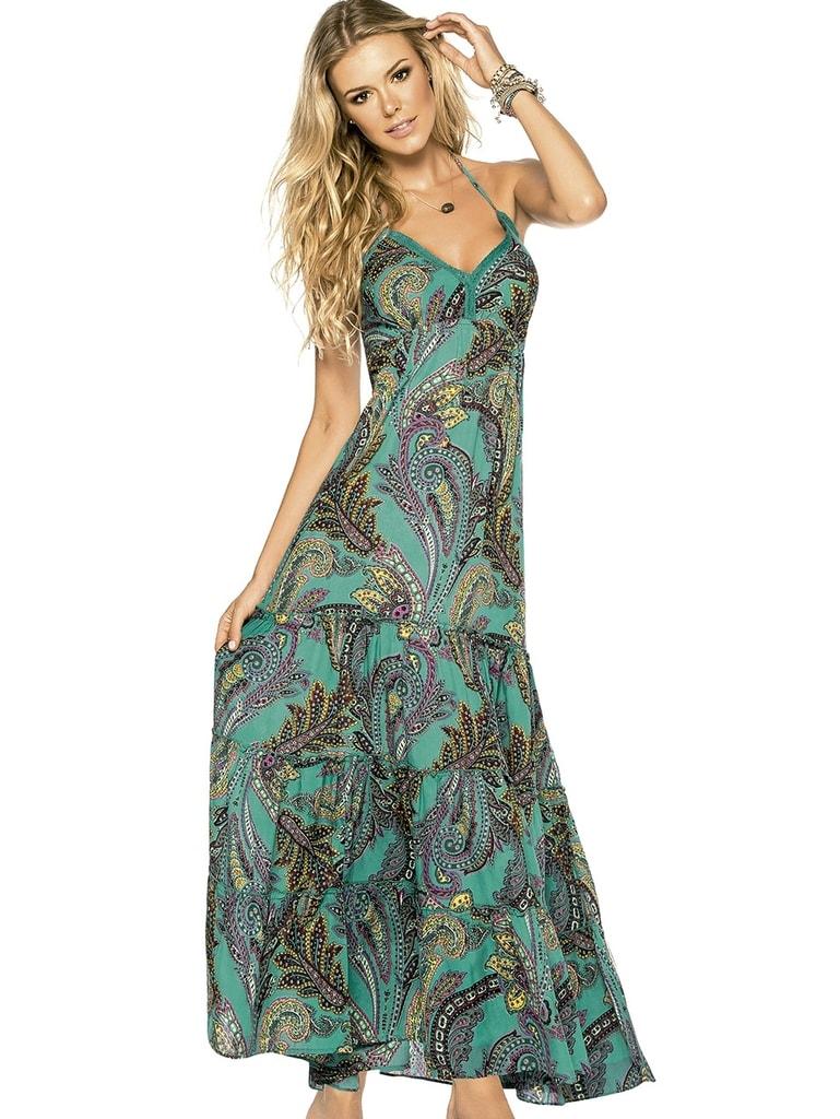 Dlouhé letní šaty PHAX Kinabalu Sunrise tyrkysové  99c88aa606
