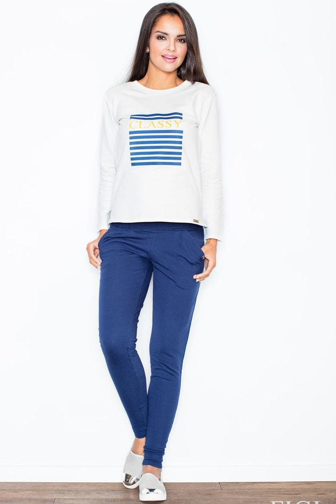 Dámské kalhoty FIGL M305 tmavě modré  11f842dc2f