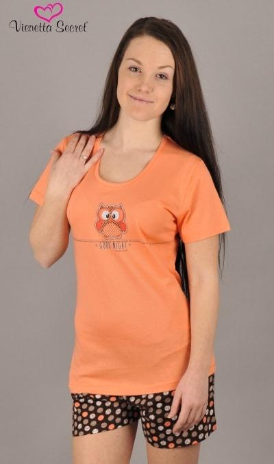 aa317179a2ba Dámské pyžamo VIENETTA SECRET Malá sova oranžové