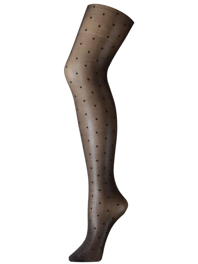 Vzorované punčochové kalhoty CHANGE Dots černé s puntíky ... cf2a99fa20
