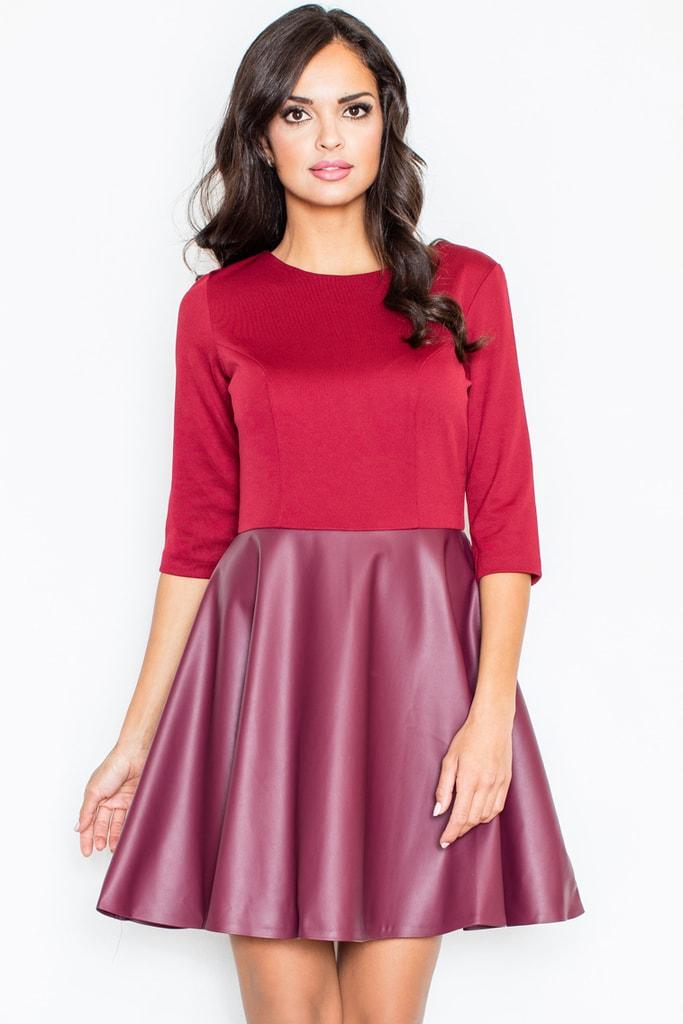9fc8352ba6e0 Dámské šaty FIGL M162 vínové