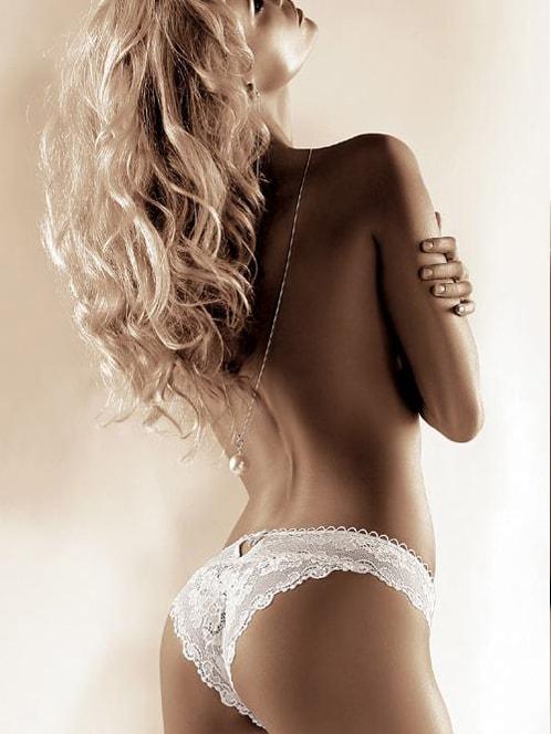 Dámské krajkové kalhotky ROZA Madam bílé  fdf0c97518