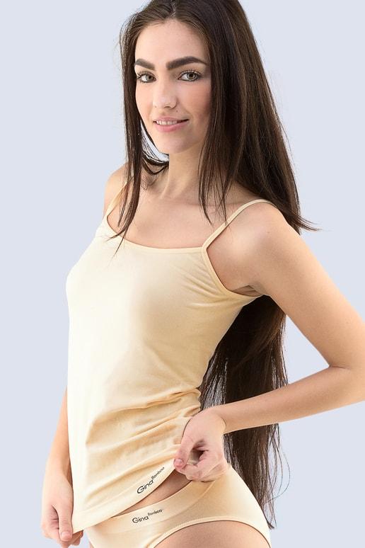 c6c7b248191 Dámská košilka GINA prodloužená bezešvá Bamboo PureLine 08016P - tělová