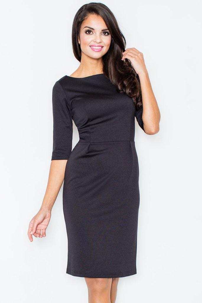 Dámské šaty FIGL M202 černé  89704d04204