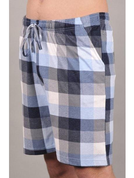 3df9fd3b7cc Pánské pyžamové šortky VIENETTA SECRET Kate modré