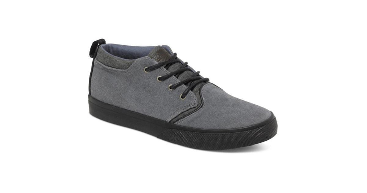 Kožené boty Quiksilver Griffin Suede Shoe Grey Grey Grey AQYS300005-XSSS  fd30eb069a