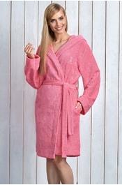 Dámský župan s kapucí L L Alba pink ed74ef2932