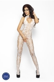 Bodystocking PASSION BS009 bílá