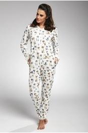 0e9b0ec17616 Dámské bavlněné pyžamo CTM STYLE Vernis korálové