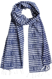 Šátek ROXY Really Better Blue Depths Olmeque Stripe ERJAA03225-BTA3