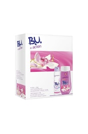 B.U. In Action Pure + Dry - antiperspirant ve spreji 150 ml + sprchový krém Orchidej - 250 ml