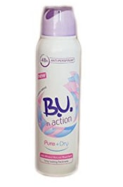 Deodorant antiperspirant ve spreji B. U. In Action Pure+Dry