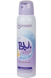B.U. In Action Sensitive - deodorant/antiperspirant ve spreji