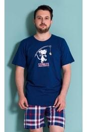 81fdc95e32c4 Pánské pyžamo šortky Outdoor - tmavě modrá