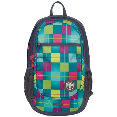 Studentský batoh Chiemsee Techpack two backpack Karo blue cabaret