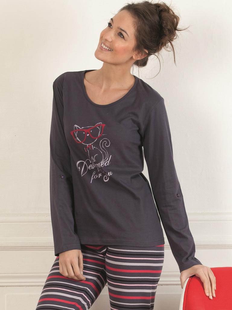 Dámské pyžamo CTM STYLE Designed šedé - Iva.Style - dámsky a pánsky ... 1355c40dd9