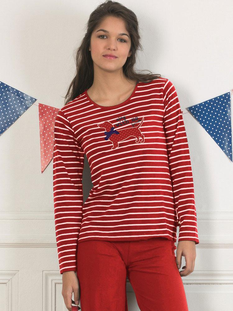 Dámské pyžamo CTM STYLE Stay červené - Iva.Style - dámsky a pánsky ... 86ead09843