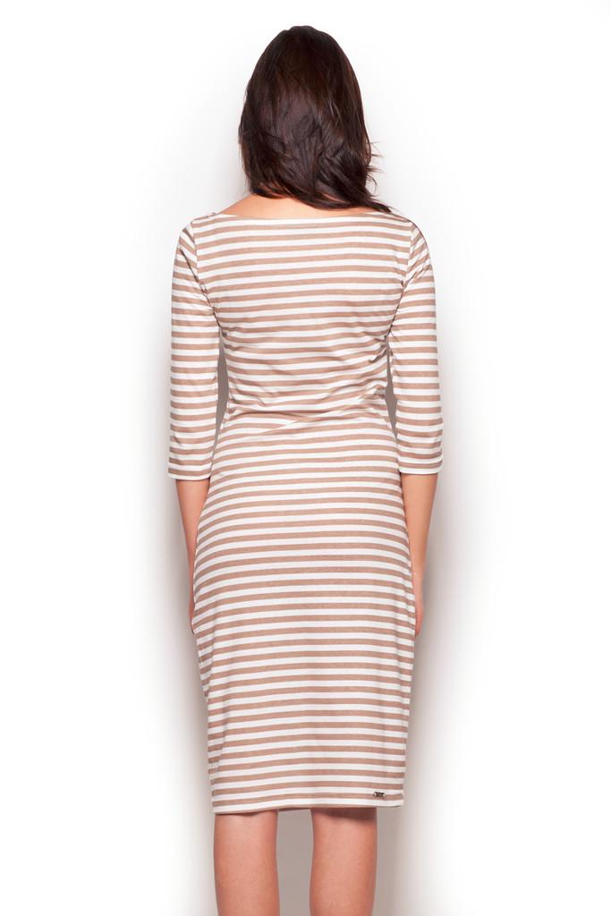 4bafad2d056c Dámské šaty FIGL M311 béžové - Iva.Style - dámsky a pánsky fashion eshop
