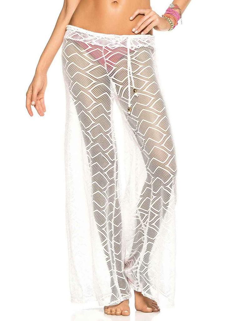 b28259f6bb50 Háčkované kalhoty PHAX Kinabalu Sunrise bílé - Iva.Style - dámsky a ...