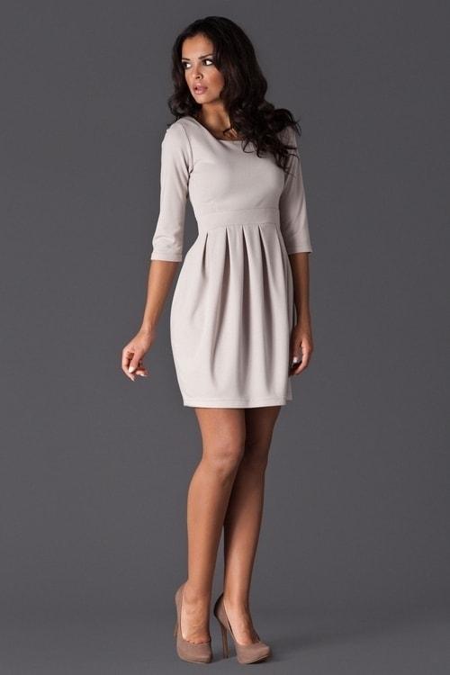 1e82ee3c77a1 Dámské šaty FIGL M122 béžová - Iva.Style - dámsky a pánsky fashion eshop