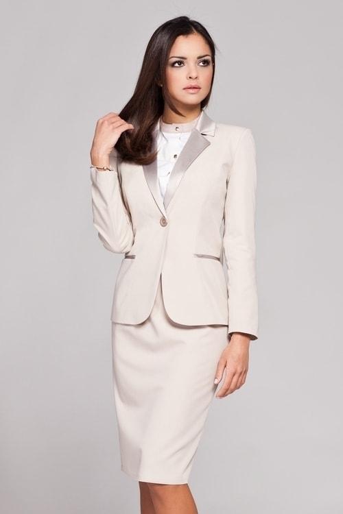 73cd85944434 Dámské sako FIGL M154 béžová - Iva.Style - dámsky a pánsky fashion eshop