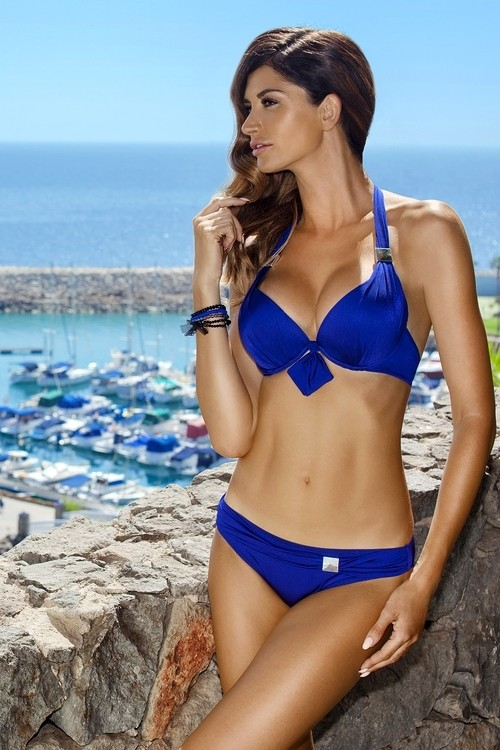 9558a92471 Dvoudílné dámské plavky EWLON Gloria modré - Iva.Style - dámsky a ...