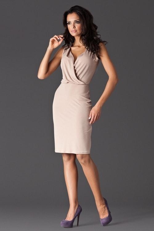 6ac02b68f088 Dámské šaty FIGL M135 béžová - Iva.Style - dámsky a pánsky fashion eshop