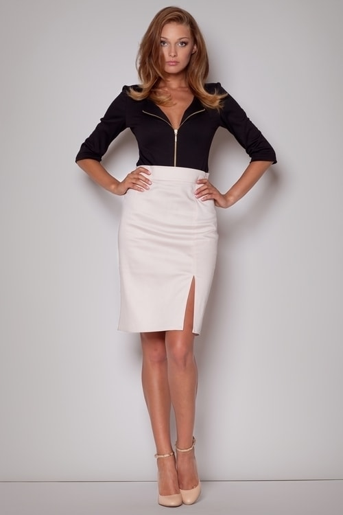 ecc0231d81f9 Dámská sukně FIGL M207 béžová - Iva.Style - dámsky a pánsky fashion ...