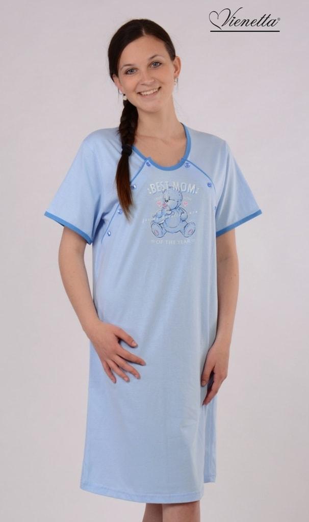 87fd70dfd Dámská noční košile mateřská VIENETTA SECRET Best mom modrá - Iva ...