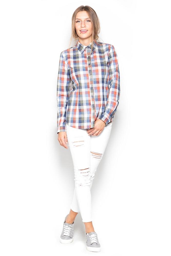 dbb08884218 Dámská kostkovaná košile KATRUS K241 multicolor
